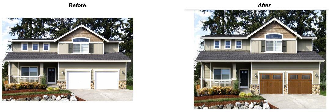 An amarr garage door on a photo of your own home amarr garage doors