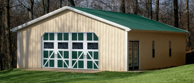 The design possibilities with Amarr Classica garage doors for barns and post-frame buildings are endless!
